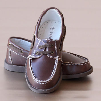 L'Amour Boys Leather Boat Shoe