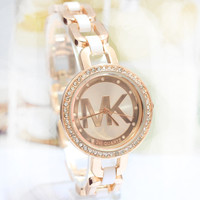 Rhinestone Stylish Korean Watch Bracelet Watch (With Thanksgiving&Christmas Gift Box)[6407505412]