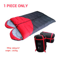 Hot sale heart shape high quality thickening cotton sleeping bag for lover autumn&winter outdoor camping splicing double bag