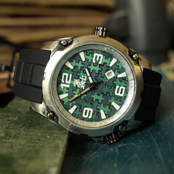 Mens Watch - Recycled Skateboard Dial Made in Canada