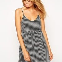 ASOS Stripe Open Back Smock Beach Dress at asos.com