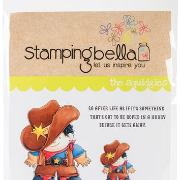 Stamping Bella Cling Stamps-Cowboy Squidgy