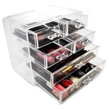 SET of 6 Acrylic Cosmetics Makeup Jewelry Storage Organizer Drawers