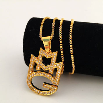 Stylish Gift New Arrival Jewelry Shiny Club Hip-hop Necklace [8439442179]