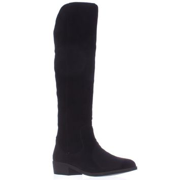 STEVEN by Steve Madden Emmery Tall Western Boots, Black, 8.5 US