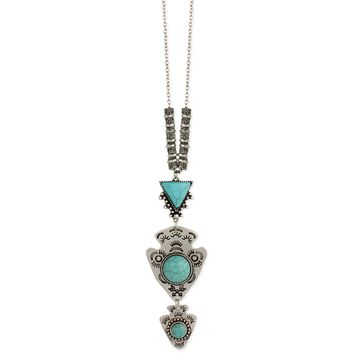 Know Your Way Turquoise & Arrowhead Necklace