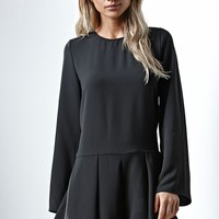 THE FIFTH Sound & Vision Long Sleeve Romper - Womens Dress - Black
