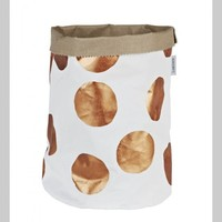 Copper Dot Painted Canvas Bucket | Lumiere Art + Co.