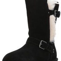 Suede 4 M US Big Kid UGG Girls K Magda Boot Black Warm Winter