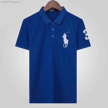 Ralph Lauren 2018 Spring and summer nwe business leisure lapel T-shirt polo shirt ღ029