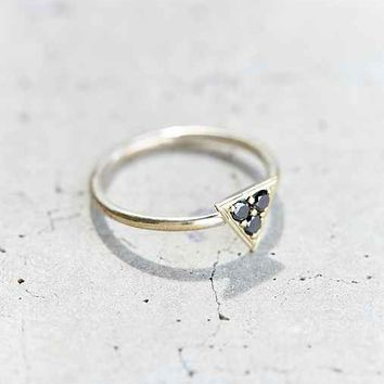 Tiny Armour Black Diamond Triptych Ring