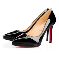 Best Online Sale Christian Louboutin Cl Pigalle Plato Black Patent Leather 100mm Stiletto Heel 16w