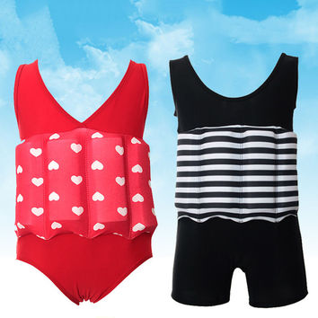 Floating Buoyancy Baby Boy/Girl Swimsuits Detachable Swimwear Siamese Swimming Training Kids Swimming Float Suits