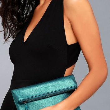 World Tour Teal Clutch
