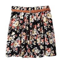 AM Clothes Womens Girls Sweet Floral High Waist Mini Skirt