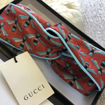 GUCCI Jacquard fringe hair band