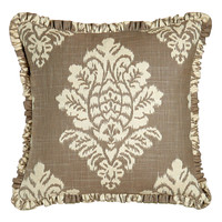 "Ikat Pillow with Ruffle, 18""Sq. - Legacy Home"