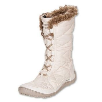 Columbia Women's Powder Summit Waterproof Insulated Boots, Winter White, US 8.5