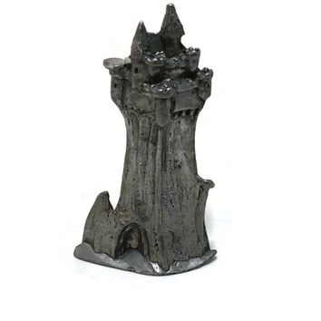 Vintage Pewter Castle, Fantasy Collectible SCM Pewter, Marked Fantasy Gifts, Game of Thrones, Gift for Gamers, Fantasy Gifts