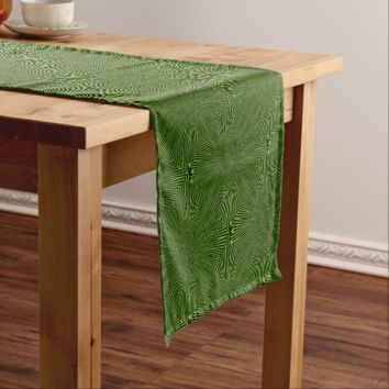 Green Pattern Short Table Runner