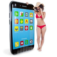 5.5-foot Jumbo iPool Smartphone Swimming Pool Float, Inflatable Water Raft by Sol Coastal