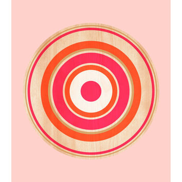 Spin on Maple, Original Art Print, 8x10, Geometric, Abstract, Target, Circle