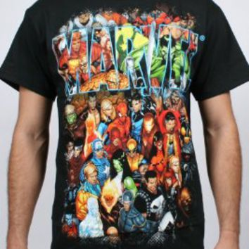 Marvel Team-Ups Men's Team Ups Group Shot T-Shirt, Black, Medium