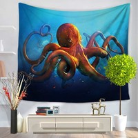 130*150cm/150*200cm Octopus Tapestry Bohemian Indian Mandala Wall Hanging Carpet Beach Towel Throw Picnic Blanket Table Cloth