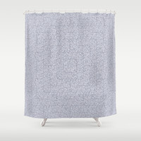 Bardarbunga Silver Shower Curtain by Gréta Thórsdóttir  #ethnic #geometric #ikat #textile #pattern #woven #bathroom #grayscale