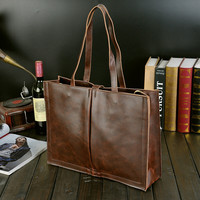 handmade leather bag gift
