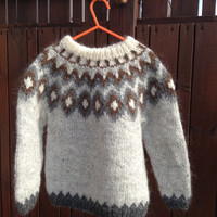 Icelandic sweater, for 4 year old, handmade 4T