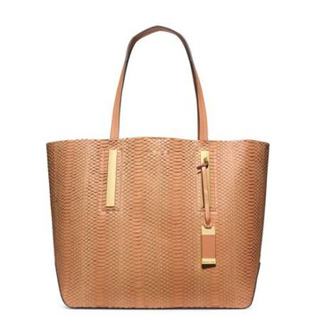 Jaryn Large Sueded-Snakeskin Tote | Michael Kors