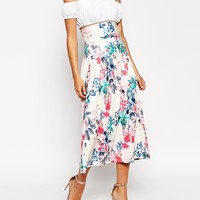 The Laden Showroom X House of Pearl Floral Print Maxi Skirt at asos.com