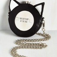 Black Cat Canteen Flask Purse