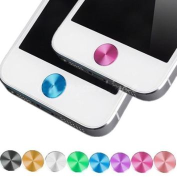 1X Aluminizing Metal Home Button Sticker Decal Multi-color for iPhone 4 4S 5 5C