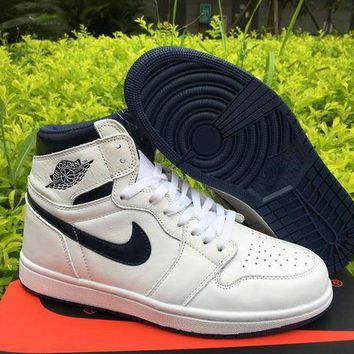 UCANUJ3V air jordan 1 high og metallic navy men basketball shoes-1
