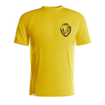 Leoroar Black on Yellow T-Shirt
