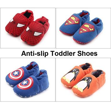 Toddler Infant Baby Girl Boy Shoes I Love Dad/Mom Flats Soft Sole Anti-slip Slippers First Walker Warm Thick Free Drop Ship DS19