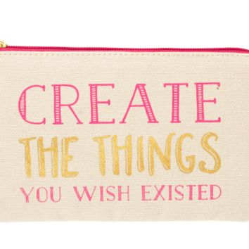 Create Zipper Pencil Pouch with Colored Pencils