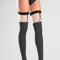 Faux Suspender Thigh Highs