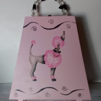 Pretty In Pink Poodle Purse