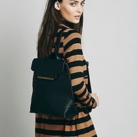 Poverty Flats for Free People Womens Keena Vegan Backpack - Black One
