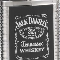 Jack Daniel's Flask Ribbed with leather insert 6 oz