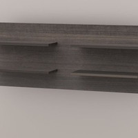 """Allure Collection Decorative Wall Panel with 4 Shelves (Ebony) (18.25""""H x 47.75""""W x 7""""D)"""