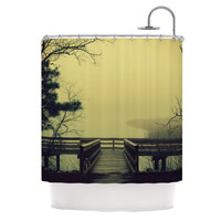 "Robin Dickinson ""Fog on the River"" Shower Curtain, 69"" x 70"" - Outlet Item"