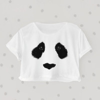 I'm a Panda printed Midriff Cropped Blouse. Street-Style Fashion - teenage - crop - Teen Girl - Casual wear