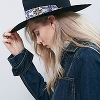 Sam Roberts for Free People Womens Big Love Exclusive Beaded Band Hat