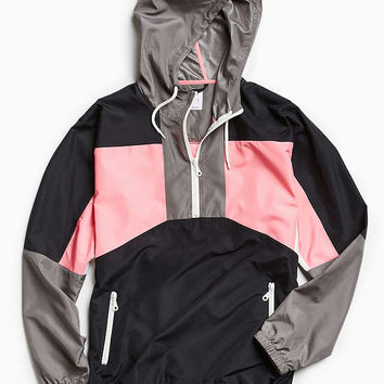 UO 90s Colorblocked Anorak Jacket - Urban Outfitters