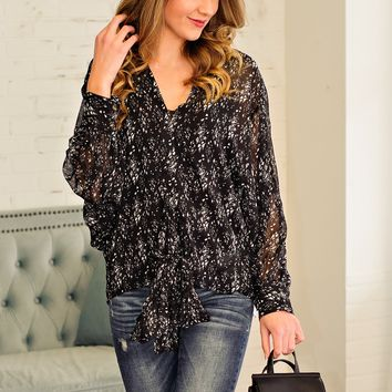 * All Time Best Print Blouse: Black