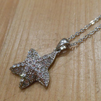 Rhinestone Starfish Necklace | Candy's Cottage